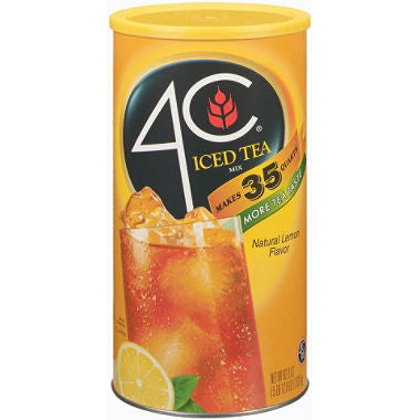 4C Iced Tea Mix; (Choose Your Flavor) Lemon, Raspberry, Peach