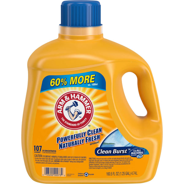 Arm & Hammer Clean Burst Detergent, 160.5 fl oz