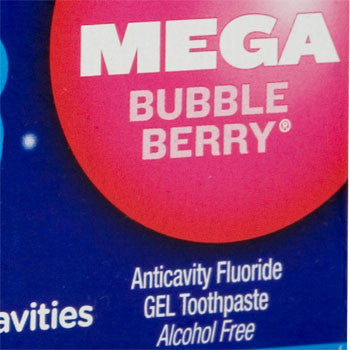Aim Kids Mega Bubble Berry Gel Toothpaste, 4.8 oz.
