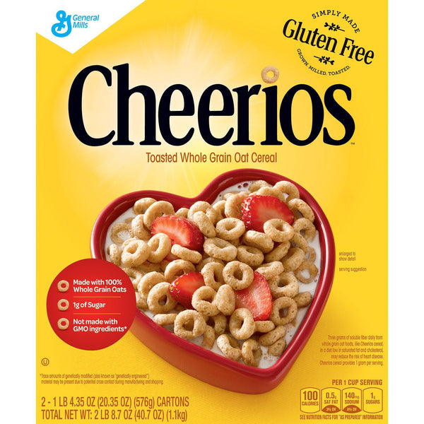 Cheerios Toasted Whole Grain Cereal (20.35 oz. box) 2 Bags Inside)