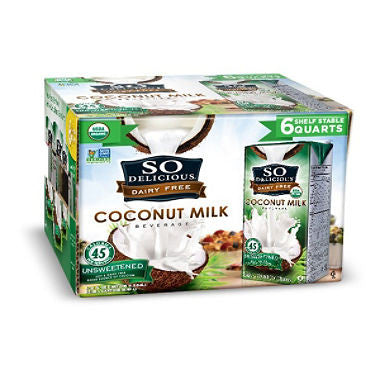 So Delicious Unsweetend Organic Coconut Milk (32 fl. oz., 6 pk.)