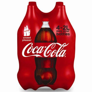 2 Liter Soda (Choose Your Flavor) 4 Pack - Sprite, Coke, Pepsi, Diet Coke