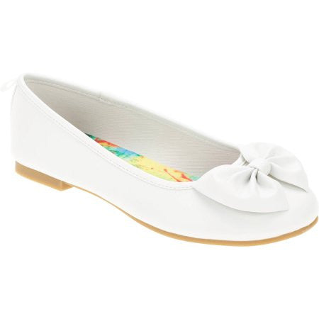 FG Girls' Bow Ballet Flat Shoes (Size 12Y, 6Y)