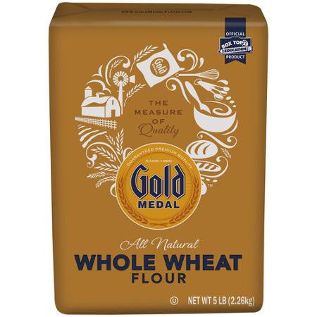 Gold Medal All Natural Stone Ground Whole Wheat Flour, 5 Lb
