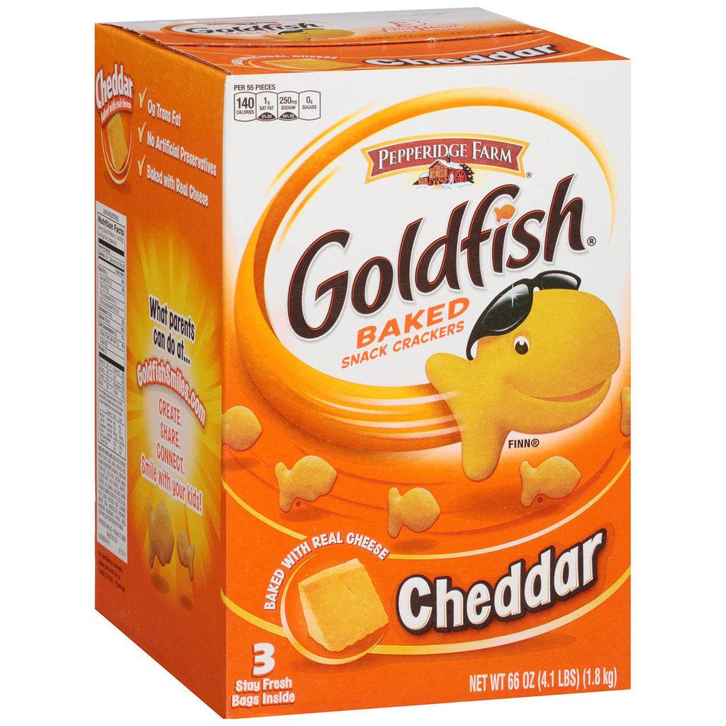 Pepperidge Farm Goldfish Cheddar Baked Snack Crackers (22 oz., 3 Count)