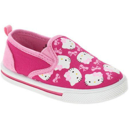 Hello Kitty Toddler Girls' Canvas Slip-on Sneaker - Choose Size (8, 10, 11)