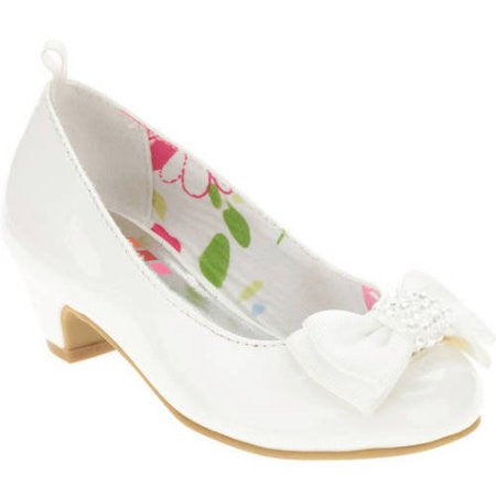 Dress Pumps (Toddler) Girls Shoes - White - Choose Size (8, 10, 12)
