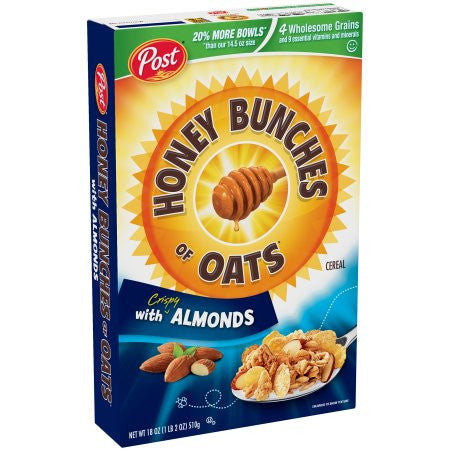 Post Honey Bunches of Oats With Crispy Almonds Cereal (Choose Size)