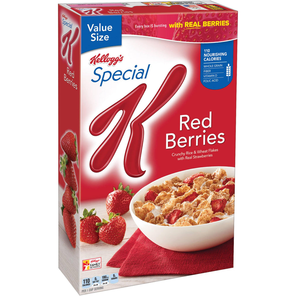 Kellogg's, Special K Breakfast Cereal, Red Berries, Family Size, 16.9oz