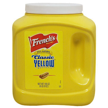 French's 100% Natural Classic Yellow Mustard (105 oz.)