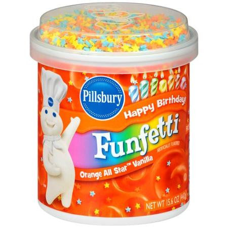Pillsbury Funfetti Frosting - Size 15.6 oz (Choose your Color)