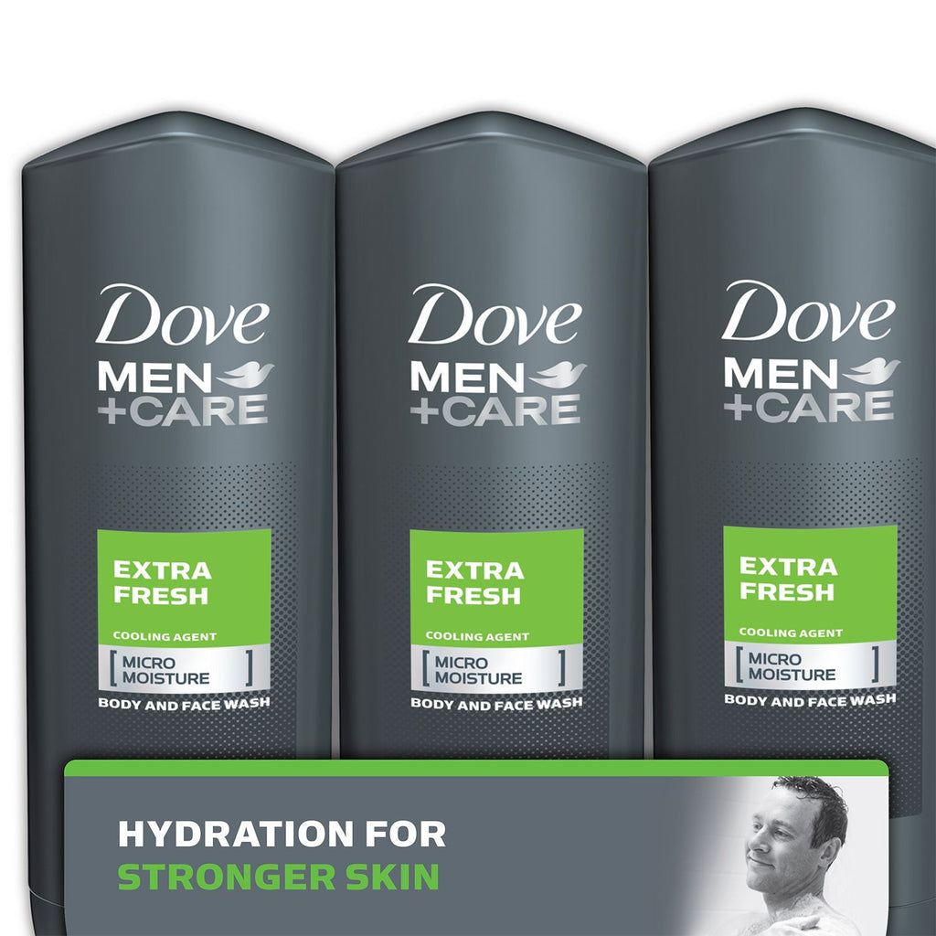 Dove Men+Care Body and Face Wash, Extra Fresh - 18 oz. Choose Size)