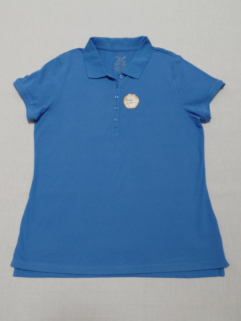 Polo Shirt with Front Buttons - 96% Cotton, 4% Spandex: Sizes XL, XXL