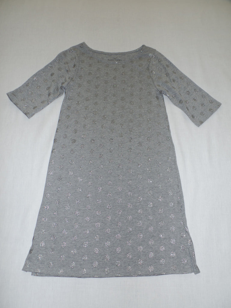 Girls FG Glitter Dot Dress - 100% Cotton: Size XL 14-17