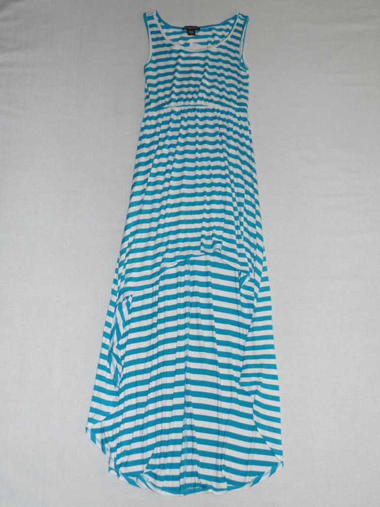 Rue 21 American Dream Stripe Hi Lo Dress - 95% Rayon 5% Spandex: Size M