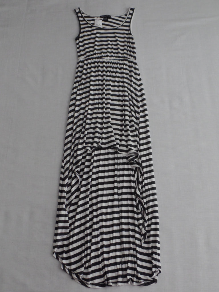 Rue 21 American Dream Stripe Hi Lo Dress - 95% Rayon 5% Spandex: S