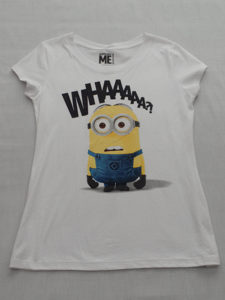 Juniors Despicable Me (SAY WHAAA) 100% Cotton Tee: Sizes XL, XXL