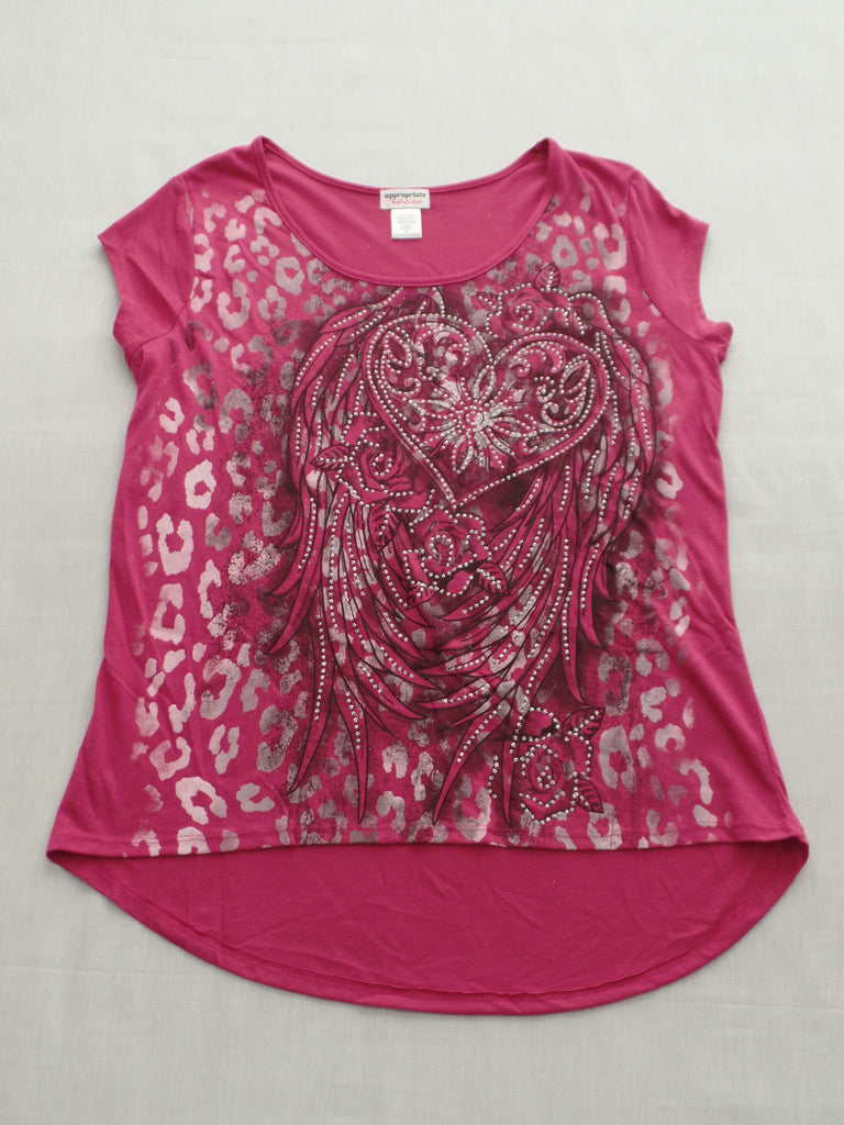 Juniors Faith Love Top Juniors - 65% Polyester, 35% Rayon: Sizes S, L, XL