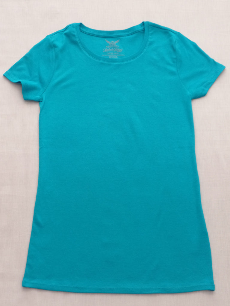 FG S/S Crew Neck Tee - 100% Cotton: Sizes S, M, L, XL, XXL Color :  Aqua