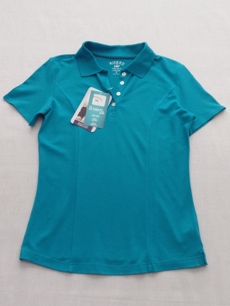 Riders Lee Fade Free Ultimate Polo Shirt 97% Cotton 3% Spandex: Size S