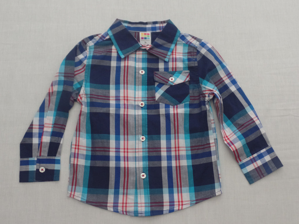 Boys Long Sleeve Shirts (button front) Sizes 24M, 3T