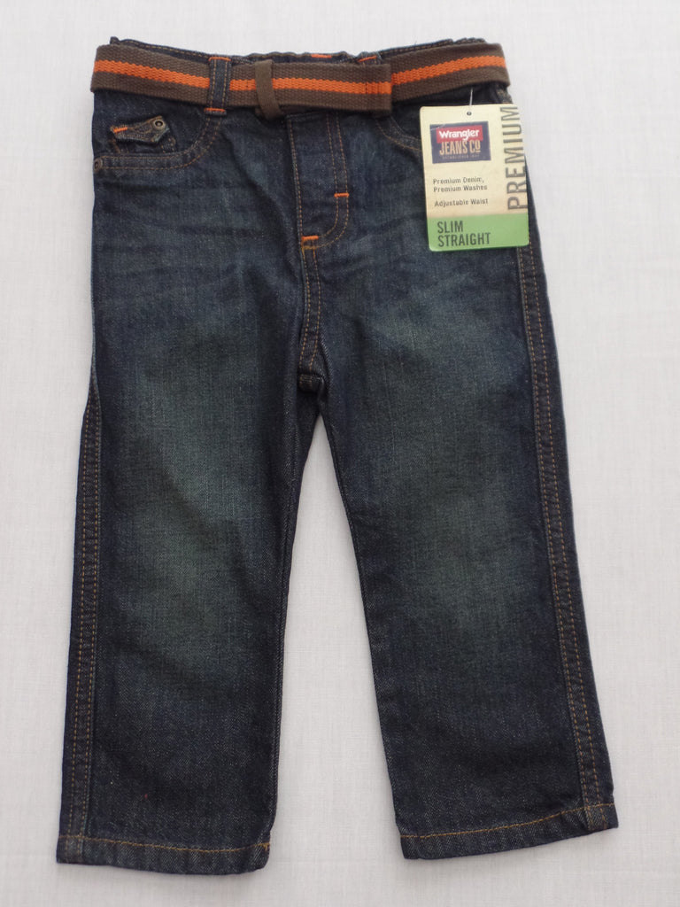 Boy's Wrangler Jeans Premium Denim - (Adjustable Waist) Slim Straight - Size 18M