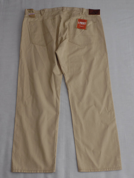Dockers 5 Pocket Stretch Straight Fit Long Pants - 99% Cotton 1% Elastane: Size W38XL29