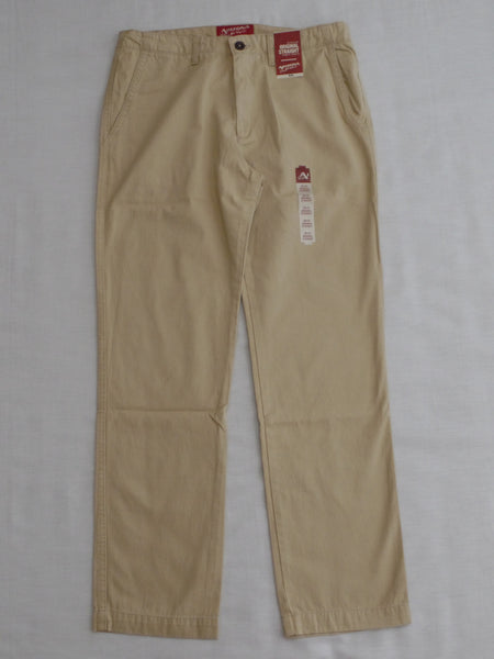 Men's Arizona Original Straight fit, Straight Leg, Khaki Pants (Sits below Waist) Choose Your Size