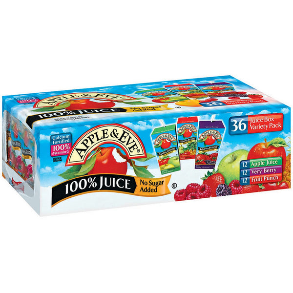 Apple & Eve Juice, Variety Pack (6.75 oz box, 36 Count)