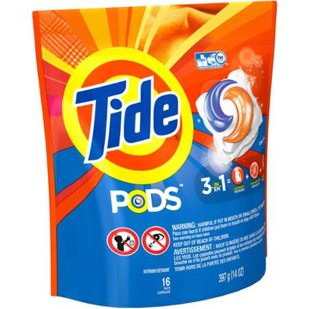 Tide PODS Laundry Detergent, 16 Loads, 16 count, Original Scent
