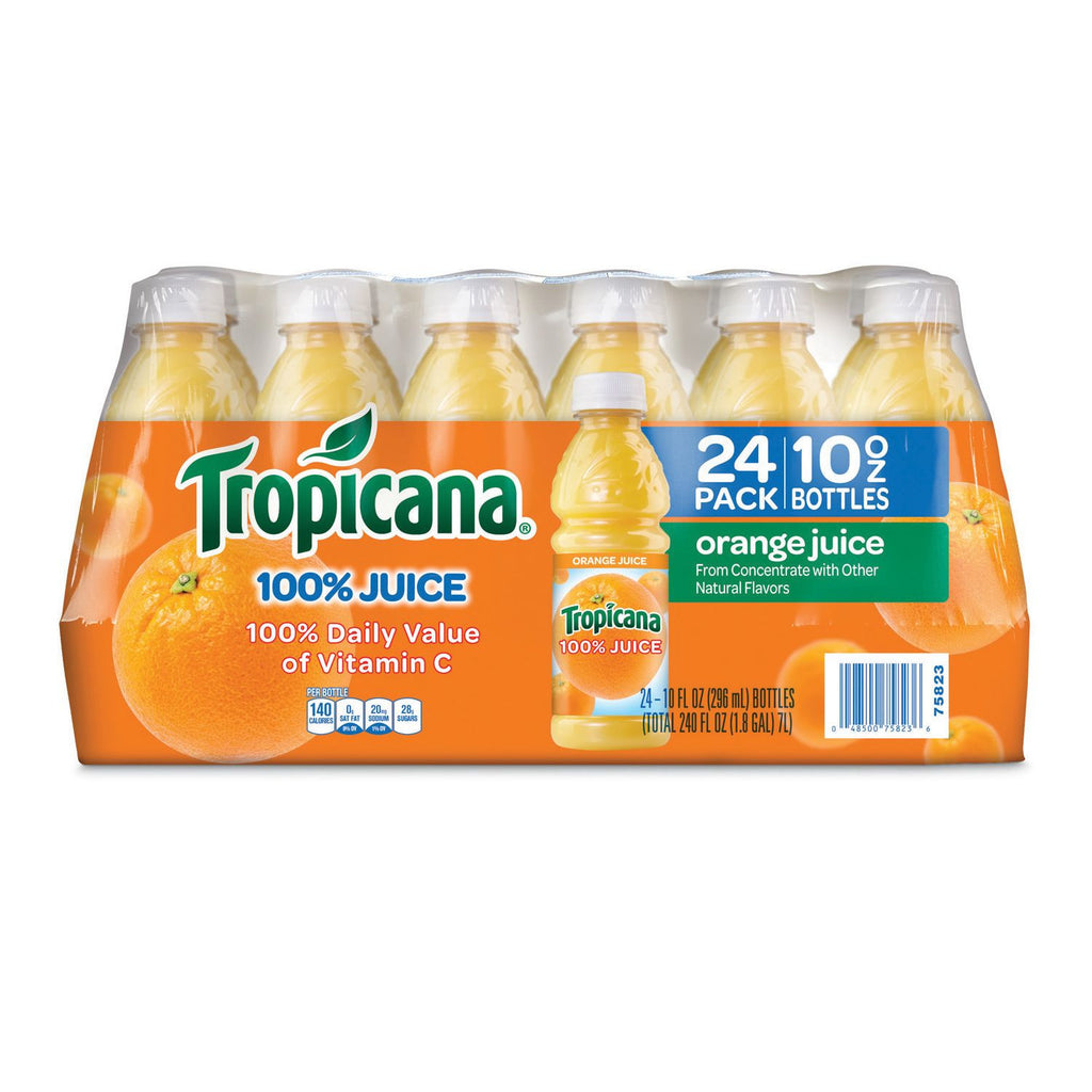 100% Orange JuiceTropicana (10 oz. bottles, 24 Pack)