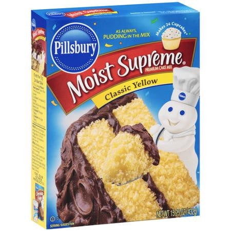 Pillsbury Moist Supreme Premium Classic Yellow Cake Mix, 15.25 oz
