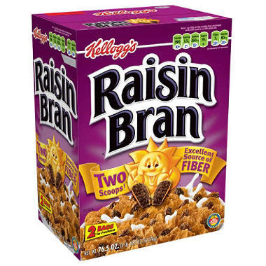 Kellogg's Raisin Bran Cereal (76.5 oz.) 2 Bags Inside