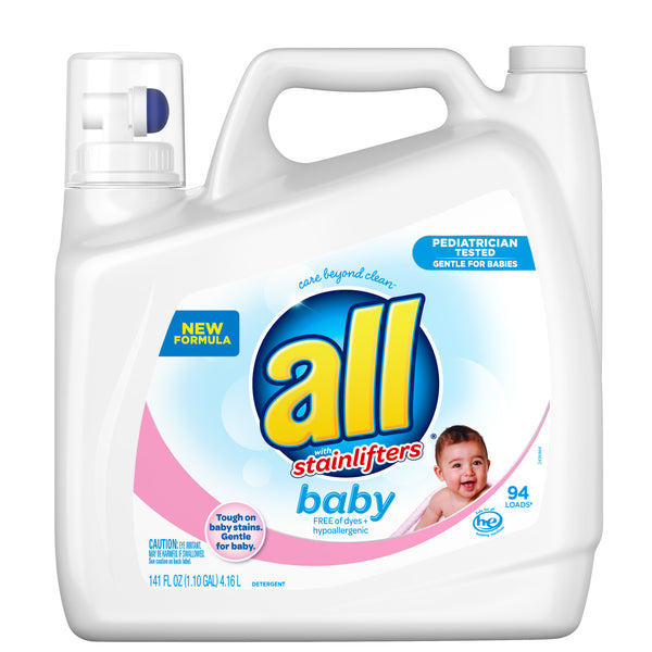 All Baby Liquid Laundry Detergent, Gentle for Baby, 141 Ounce, 94 Loads