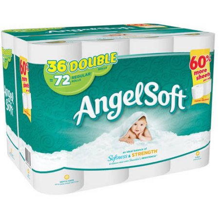 Angel Soft Toilet Paper, 36 Double Rolls Bath Tissue