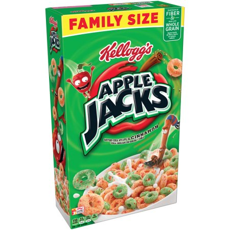 Kellogg's Apple Jacks Cereal - Choose Size  (Family or Giant)