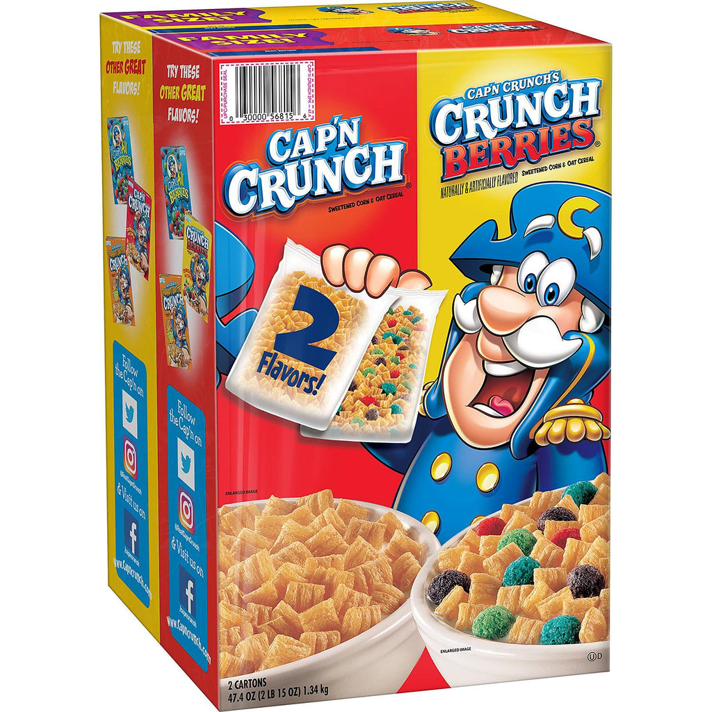 Cap'n Crunch Cereal, Variety Pack (2 Pack)