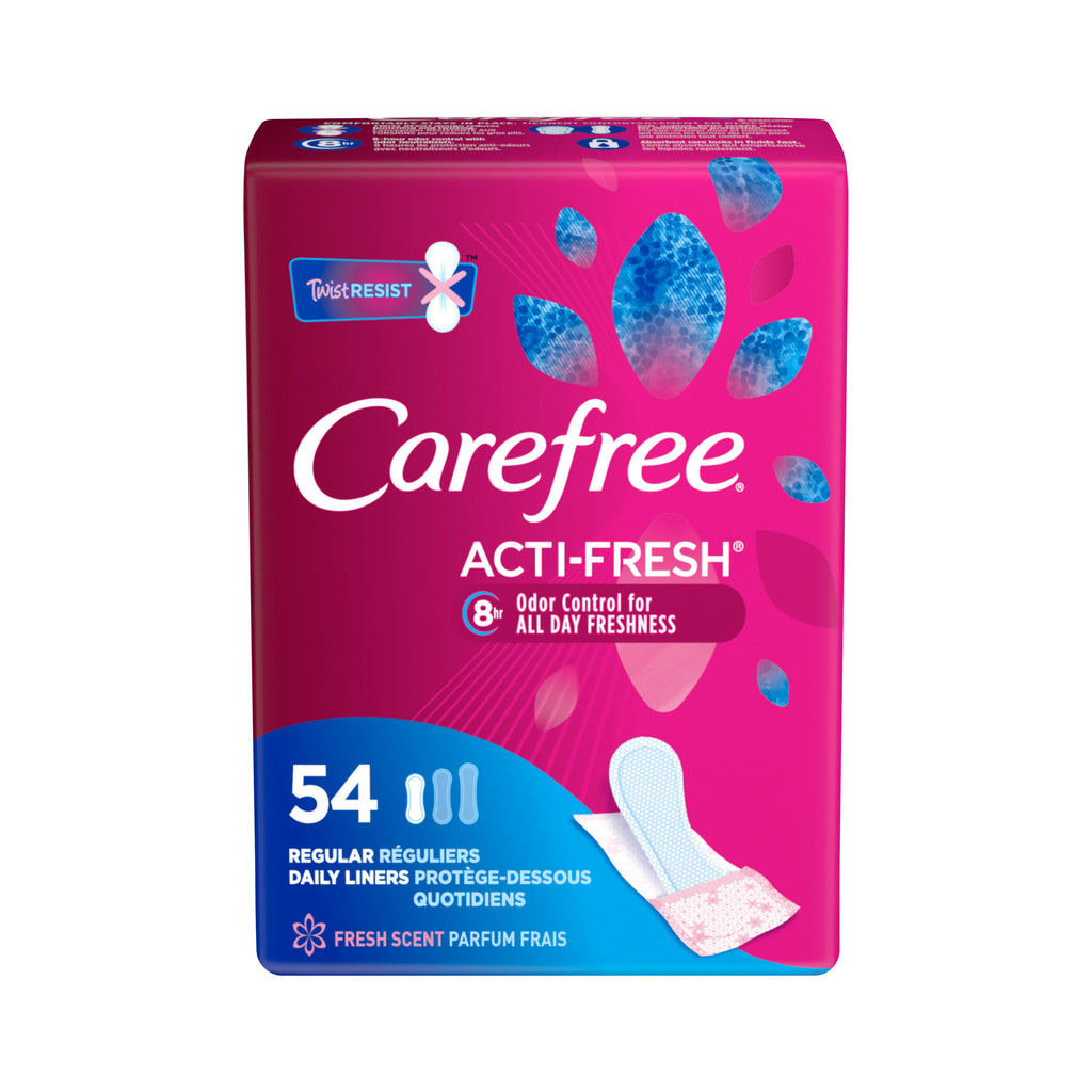 Carefree Acti-Fresh Panty Liners (54 Count)