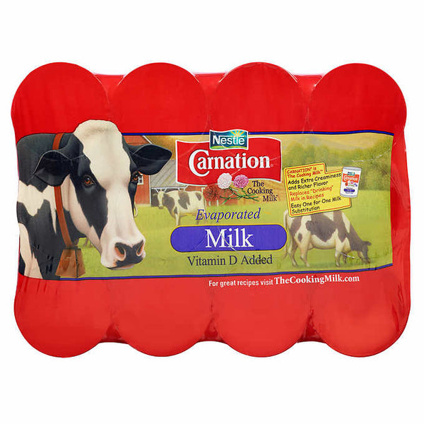 Carnation Evaporated Milk - (12 oz. Can) Choose Size: Single, 8 or 12 Pack