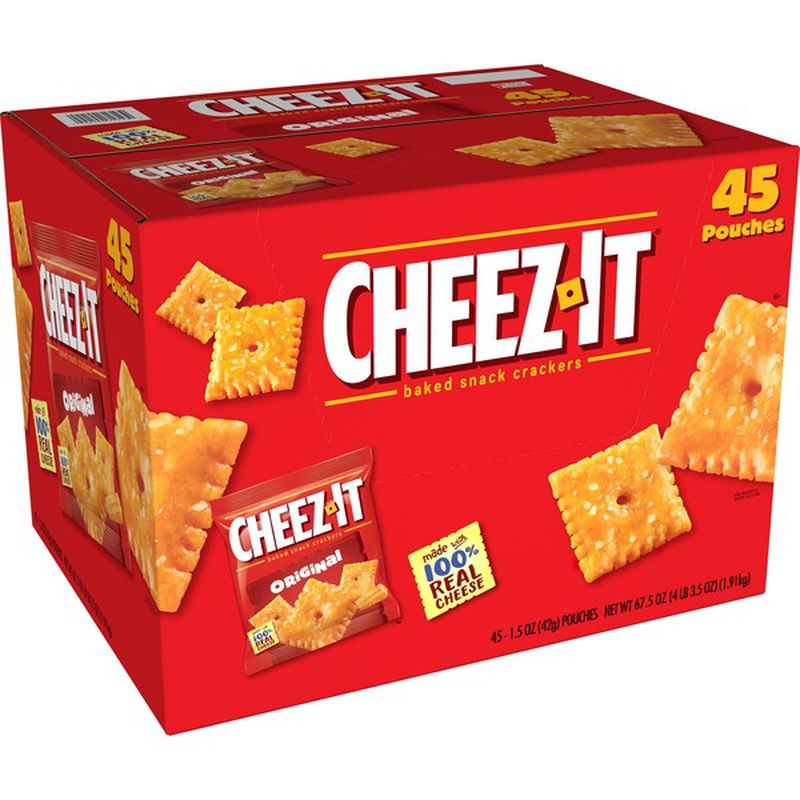 Cheez It Original Crackers Snack Packs (1.5 oz., 45 Count)