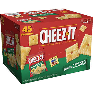 Cheez It White Cheddar Crackers Snack Packs (1.5 oz. pouches, 45 Count)