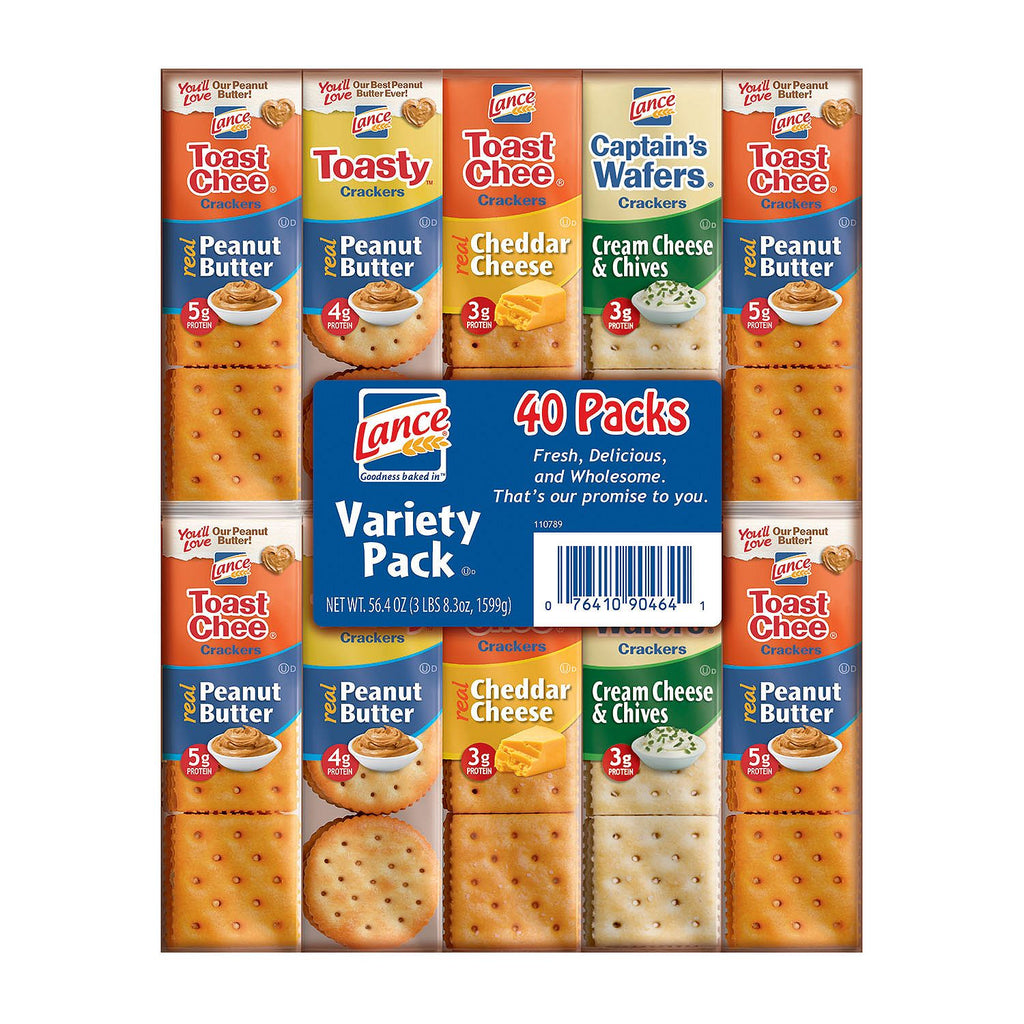 Lance Sandwich Cracker Variety Pack (40 Count)