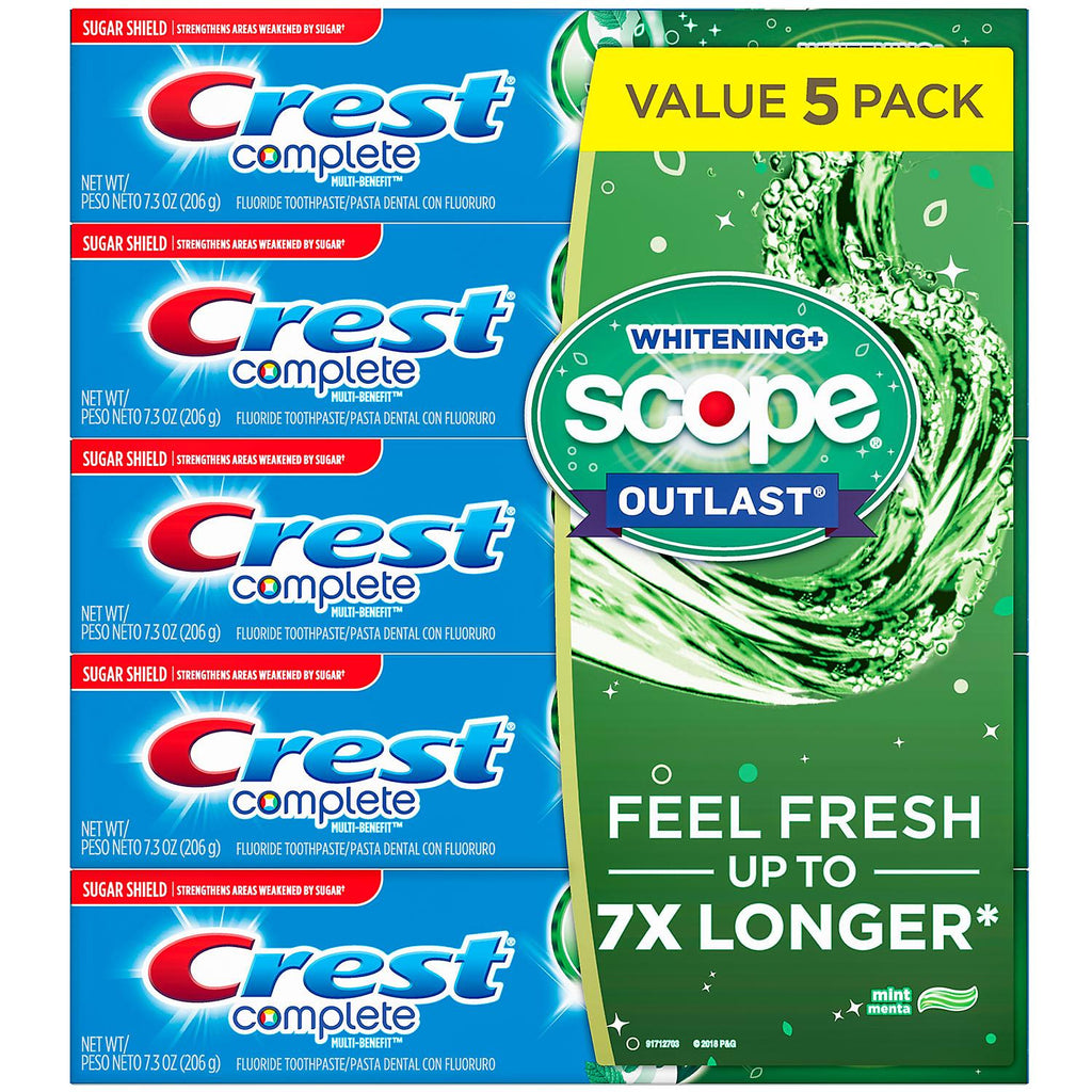 Crest Complete Whitening + Scope Toothpaste 7.3 oz. - 5 Pack