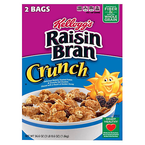 Raisin Bran Crunch Cereal (42 oz.) 2 Bags Inside