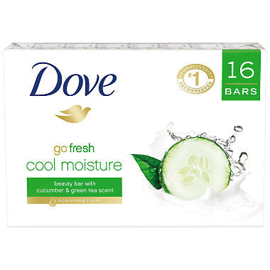 Dove Beauty Bar Soap 4 oz - 16 Count (Choose Fragrance)
