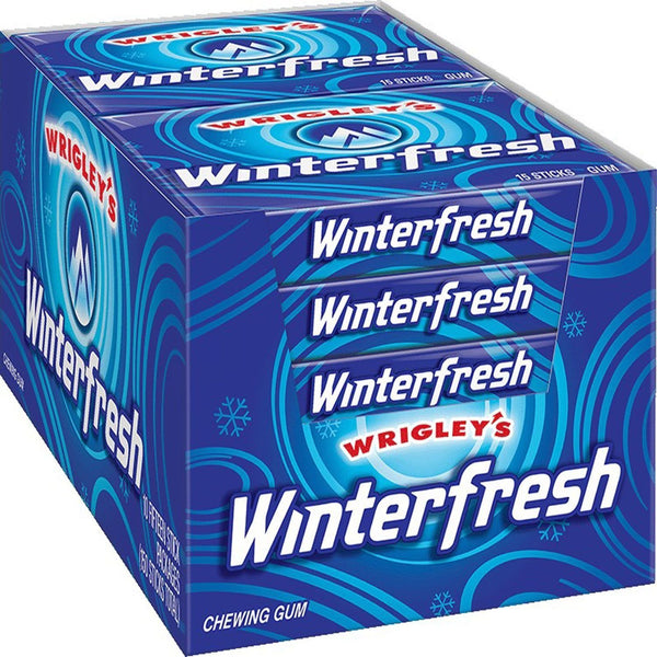 Extra Sugar-Free Chewing Gum (15 Count - 12 Packs) Choose Flavor: Spearmint, Peppermint., Polar Ice, Winterfresh