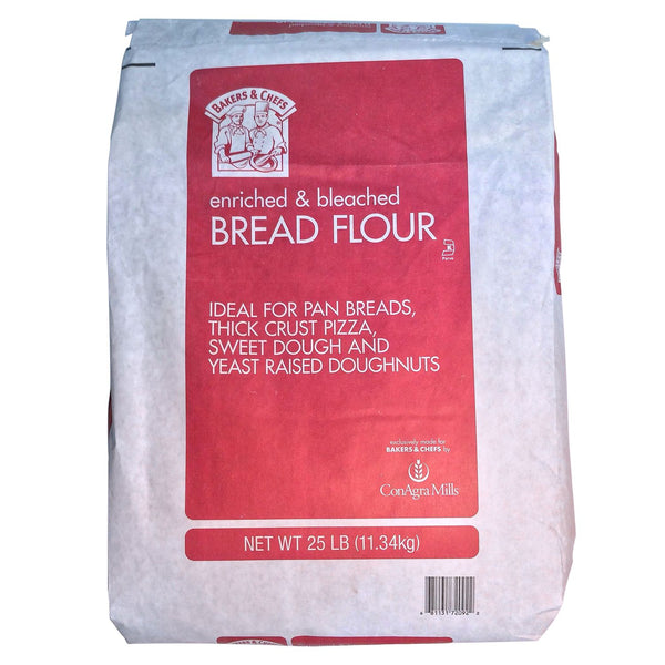 Bakers & Chefs Bread and Pizza Flour - 25 Pound Bag