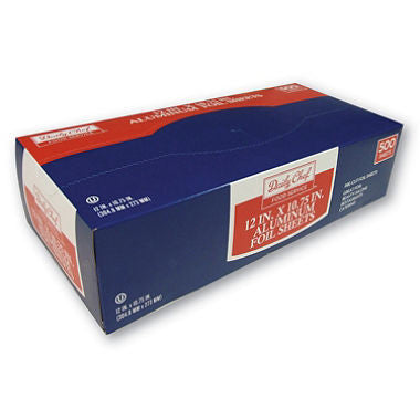Daily Chef Foil Sheets, 12 x 10.75 in. (500 ct.)