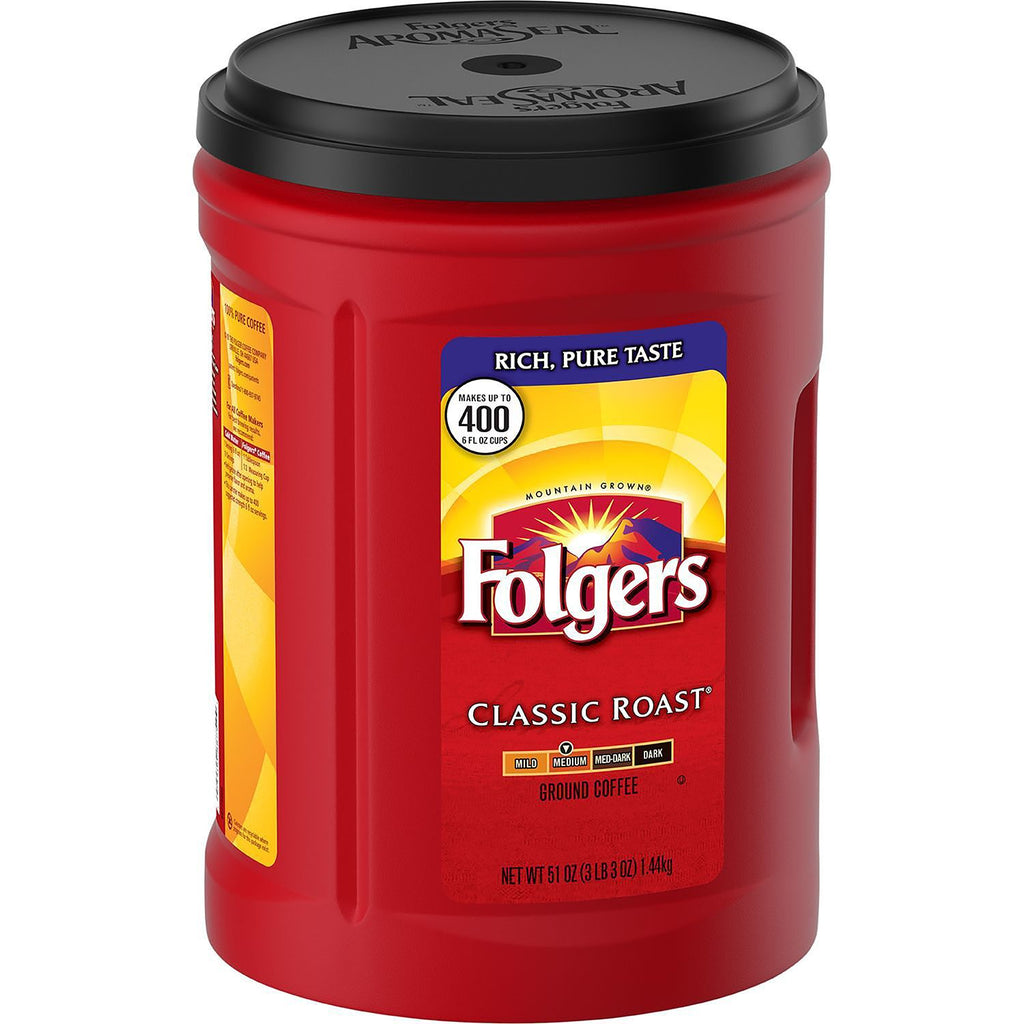 Folgers Classic Roast Ground Coffee 51 oz