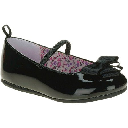 Girls HT Dress Bow Flat - Black (Sizes: 9)